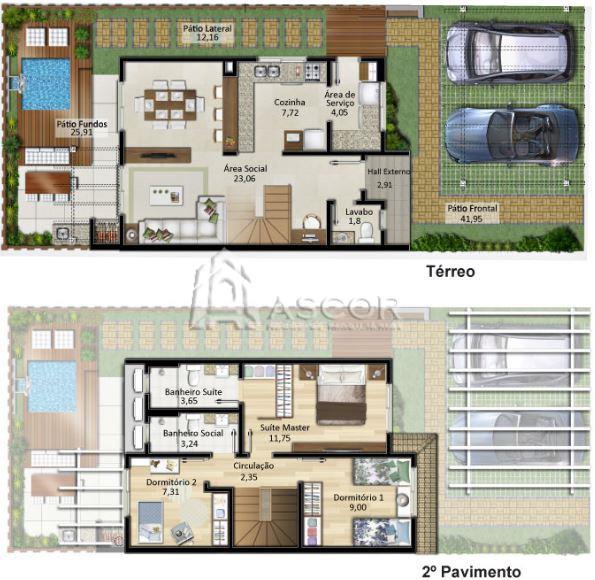 Casa 3 Dorm, Morro das Pedras, Florianópolis (CA0178) - Foto 20
