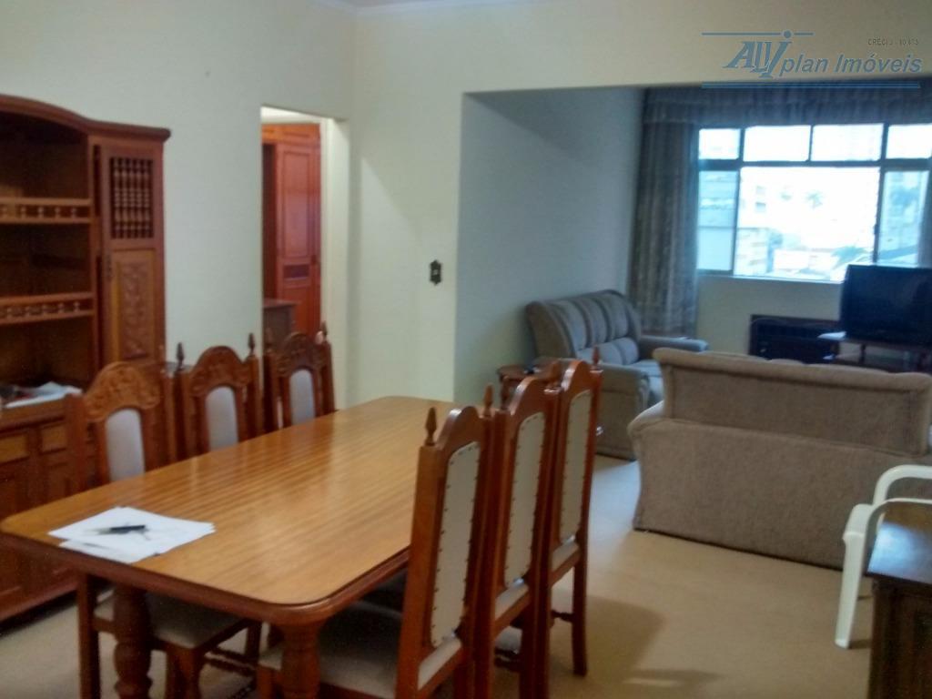Apartamento com 02 dormitórios mais dependência de empregada, piso frio amplo 128 m², garagem individual, bairro do Gonzaga.