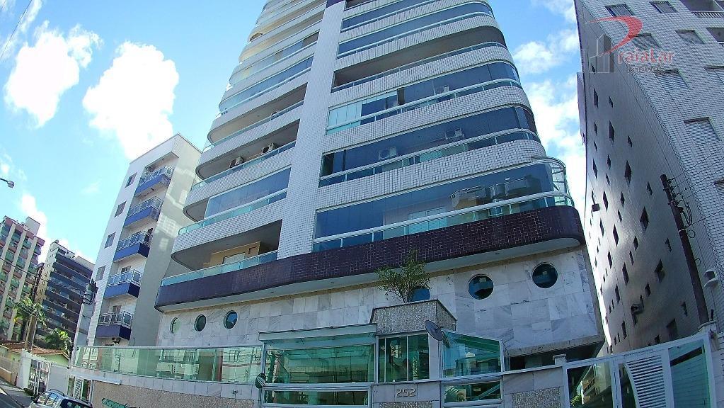 Apartamento Mobiliado de 3 Dormitórios em Praia Grande, Vila Guilhermina, Varanda Gourmet e Lazer completo, Vista Panoramica