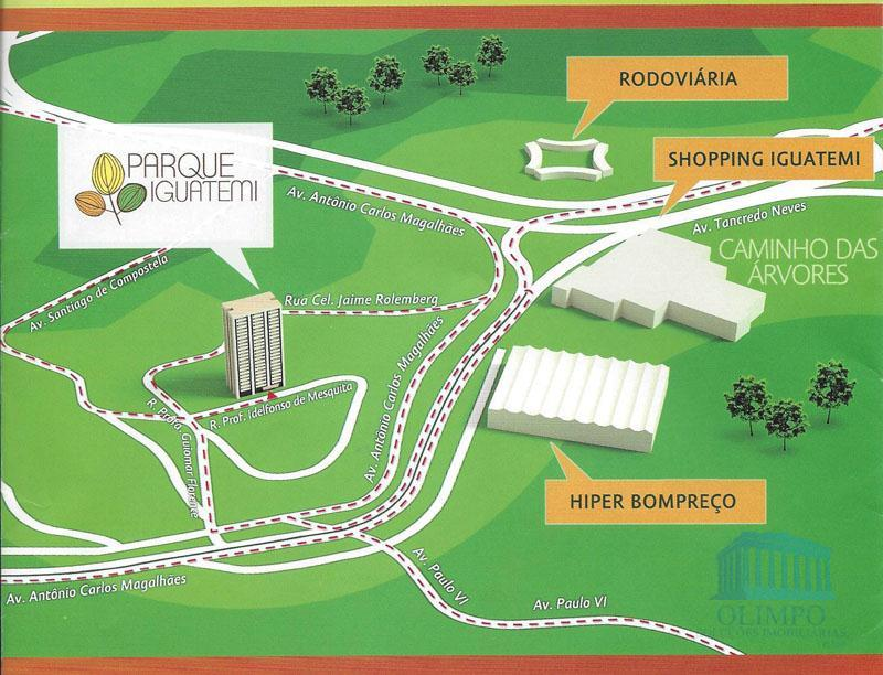 o parque iguatemi fica numa região alta, bem ventilada e com uma linda vista da cidade,...