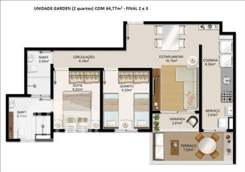 o itapuã parque é um condomínio fechado com 2 torres, apartamentos de 2 ou 3 quartos...