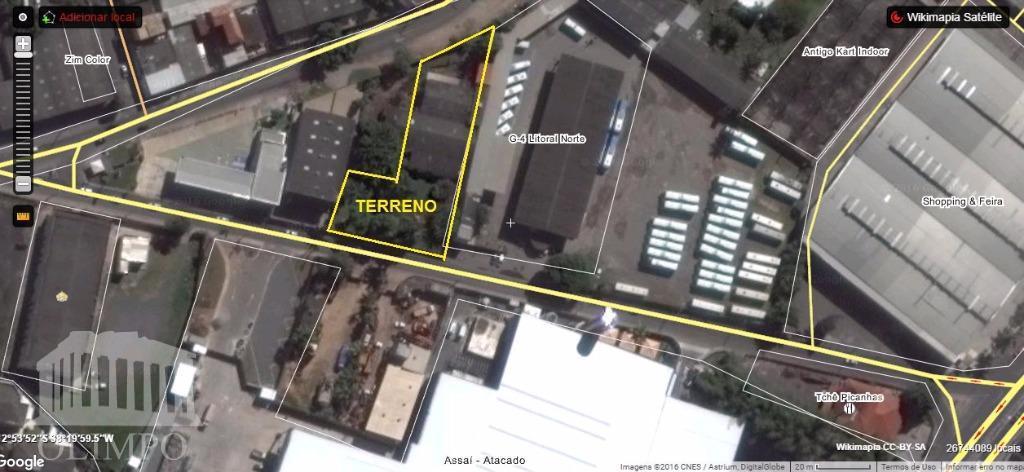 galpões em terreno de 2900m2, com acesso para duas ruas principais de itinga - lauro de...