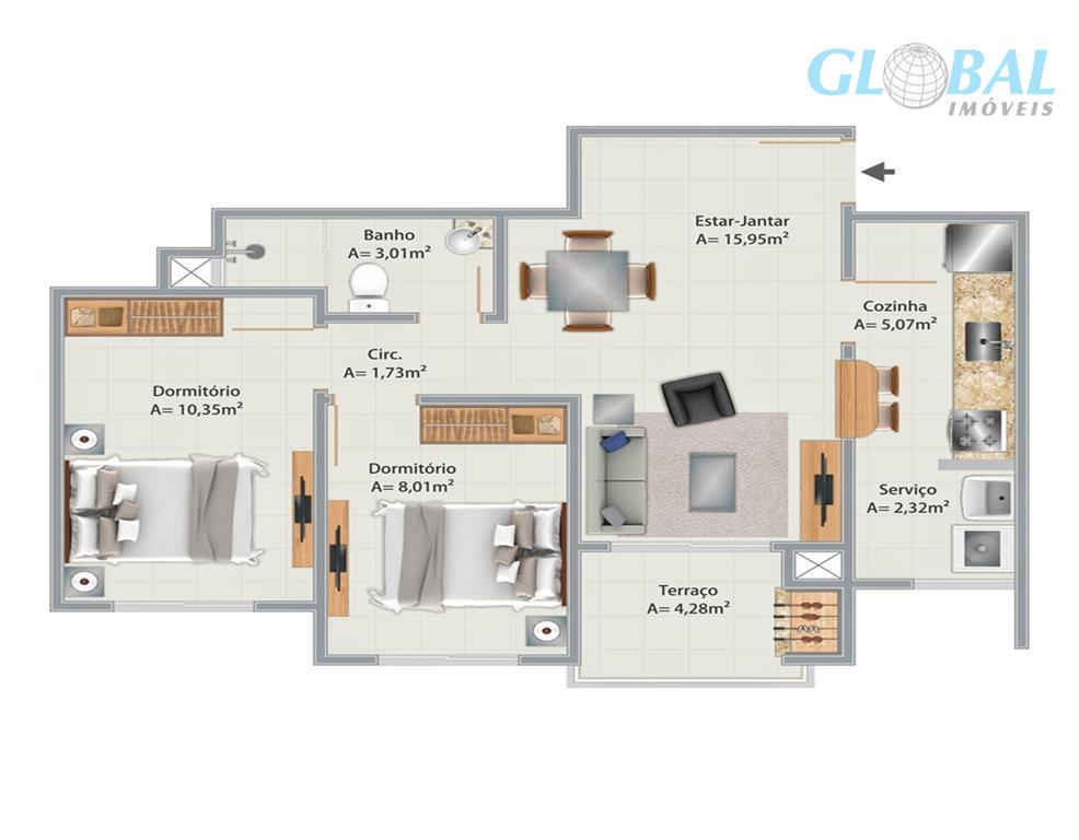 apartamentos com 2 quartos, sacada com churrasqueira, garagem coberta e elevador.financiamento pelo minha casa, minha vidaentrada...