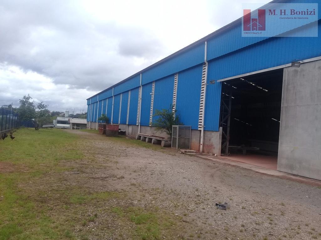 venda de metalúrgica de estruturas metálicas.galpão industrial em arujá com zoneamento zup i, edificado dentro de...