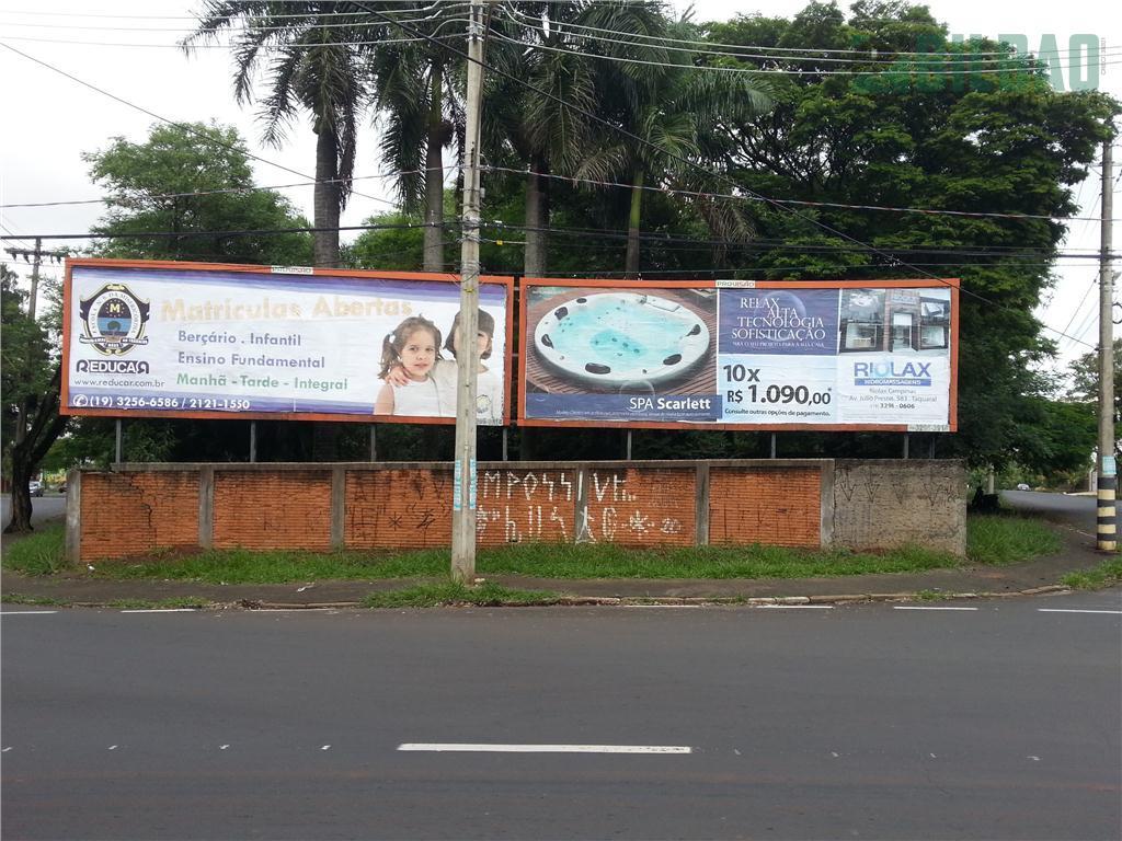 Terreno  comercial para locação, Parque Taquaral, Campinas.