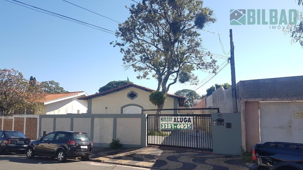 Casa comercial para locação, Nova Campinas, Campinas - CA0003.