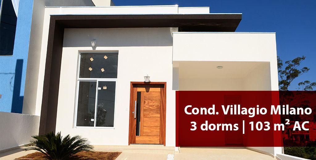 casa térrea no condomínio villagio milano em sorocaba!3 suítes, living com pé direito duplo, lavabo, cozinha...