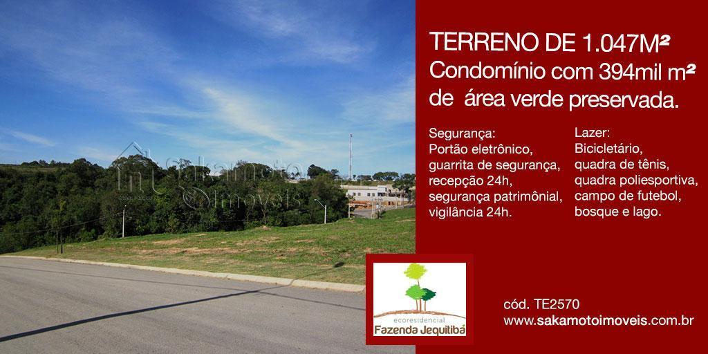 Terreno residencial à venda, Eco Residencial Fazenda Jequitibá, Sorocaba.