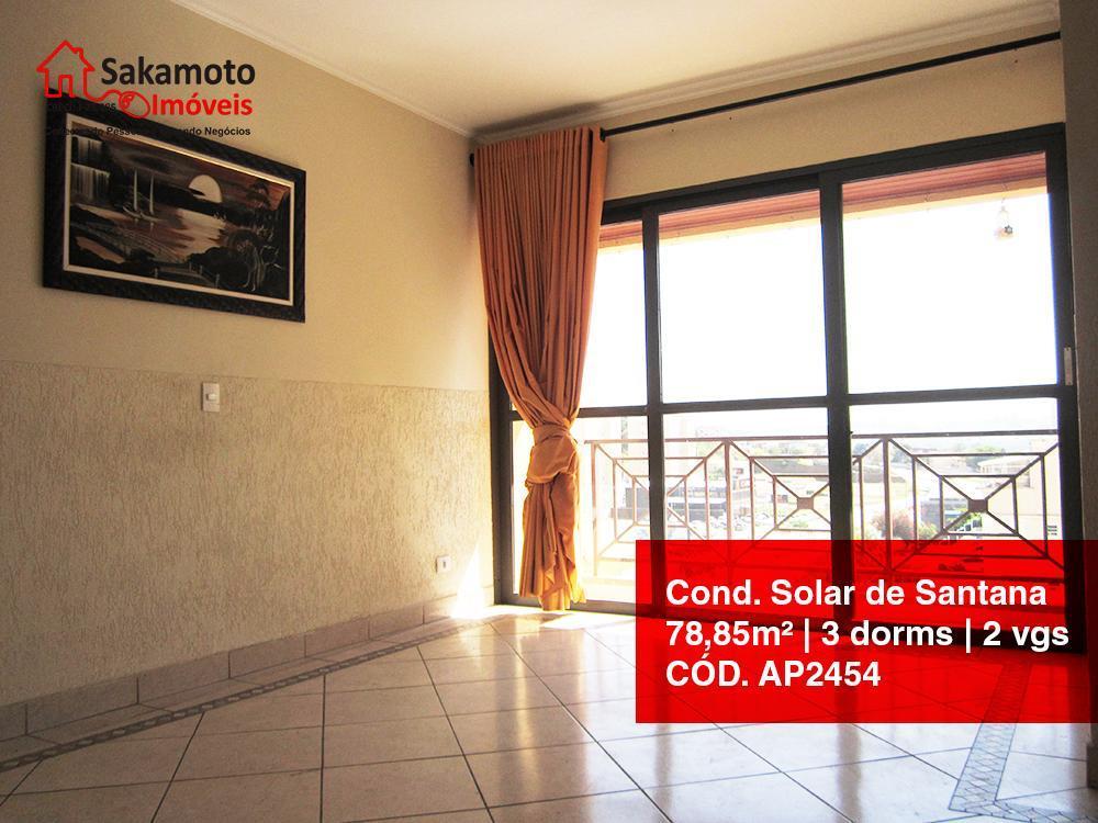 Apartamento residencial à venda, Condomínio Solar de Santana, Sorocaba - AP2454.