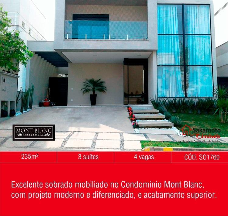 Sobrado residencial à venda, Condomínio Mont Blanc, Sorocaba - TE1679.