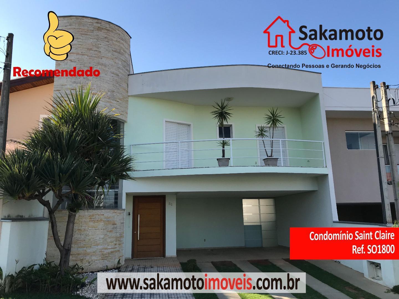 Sobrado residencial para locação, Condomínio Village Saint Claire, Sorocaba.