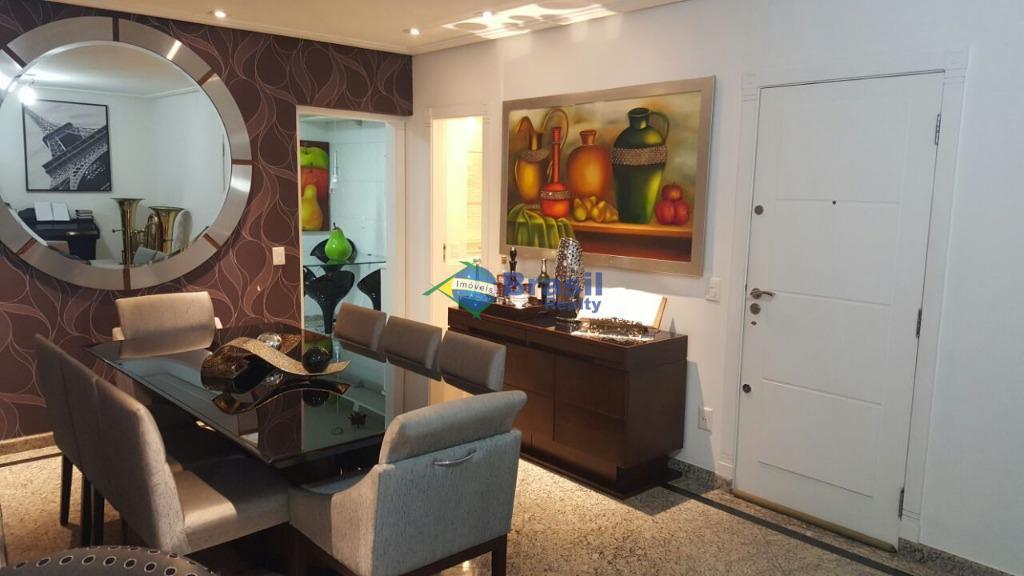 Apartamento - 127m², 3 dorms, 2 vagas, Parque das Nações, Santo André.