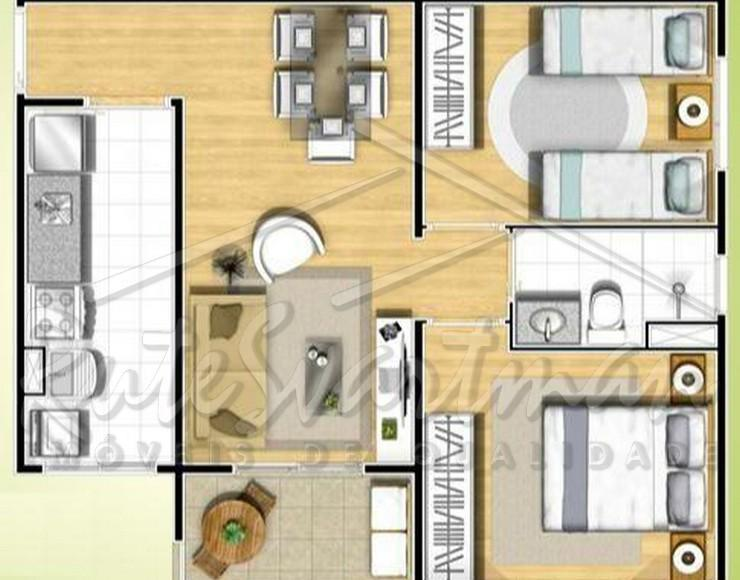 apartamento em ótima localização entre vila industrial e centro.apartamento com 2 dormitórios e a/e sendo que...
