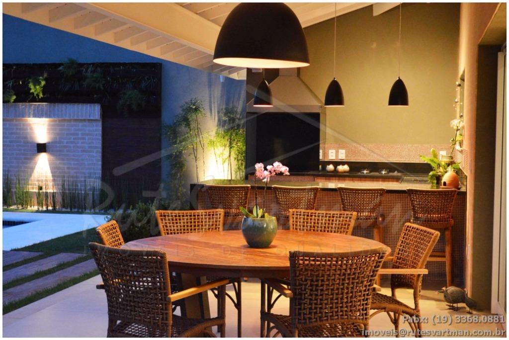 maravilhosa residência em condomínio fechado em campinas - sobrado com 4 suítes - escritório - piscina...