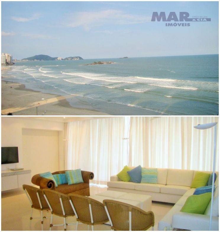 Guarujá Pitangueiras Frente total para o mar 240m² 3 dormitórios 1 suítes reformado 2 vagas