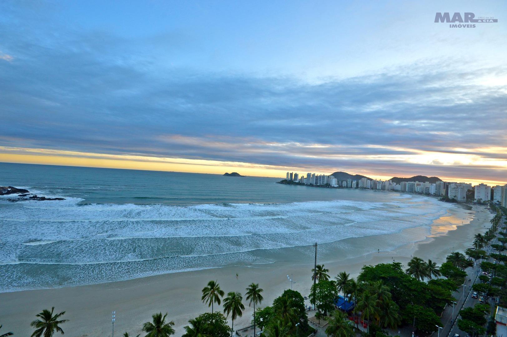 Guarujá Pitangueiras - Frente Total para o Mar - Pronto p/ Morar !!!