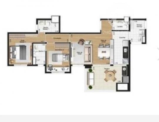 Morumbi. Apartamento com 79 m2. 2 suites. 2 vagas Apartamento com 2 dormitorios. 2 suites. 2 vagas. sala ampliada. cozinha americana. lavabo. lavanderia com entrada independente. amplo terraco com area gourmet. 2 vagas de garagens cobertas. com previsao de entrega para Marco de 2013