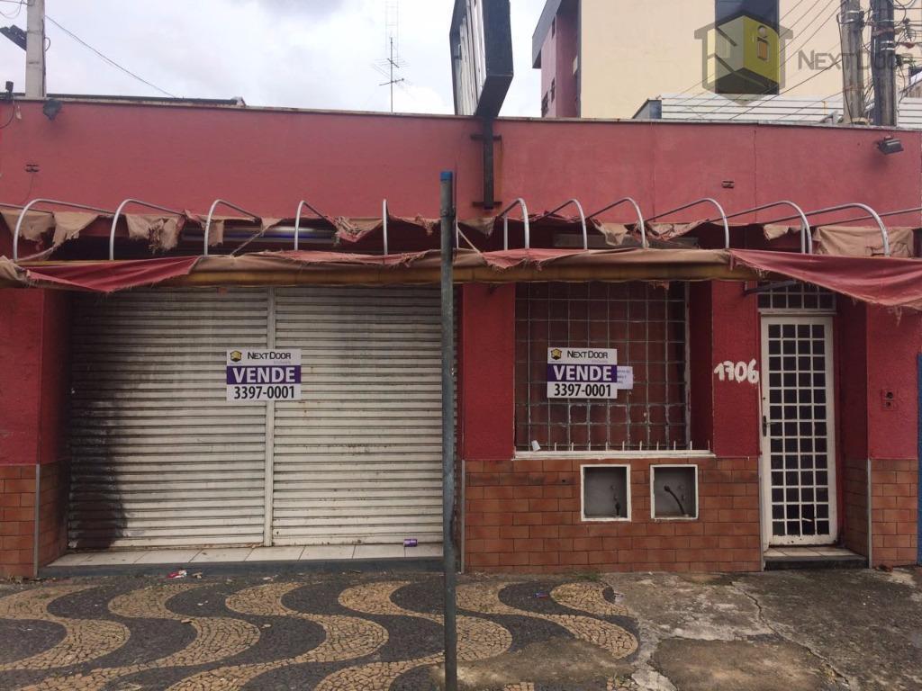 Casa comercial à venda, Botafogo, Campinas - CA0466.
