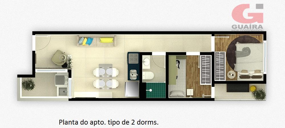 Apartamento de 1 dormitório à venda em Campestre, Santo André - SP