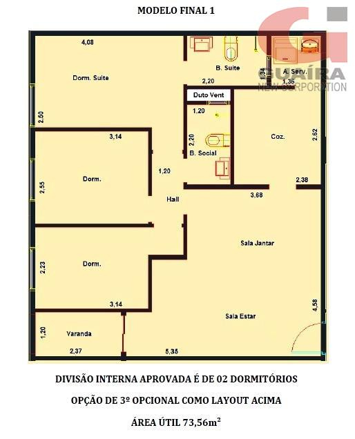 Cobertura de 2 dormitórios em Nova Gerty, São Caetano Do Sul - SP