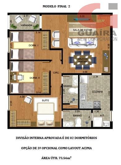 Apartamento de 2 dormitórios em Nova Gerty, São Caetano Do Sul - SP