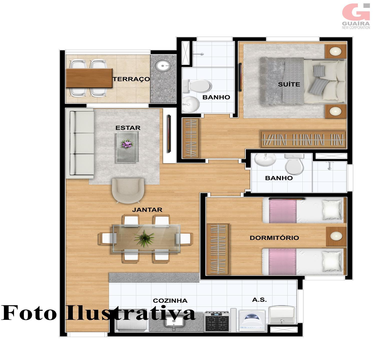 Apartamento de 1 dormitório à venda em Vila Príncipe De Gales, Santo André - SP