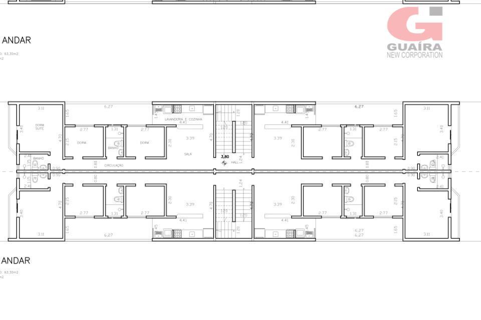 Apartamento de 3 dormitórios em Vila Palmares, Santo André - SP