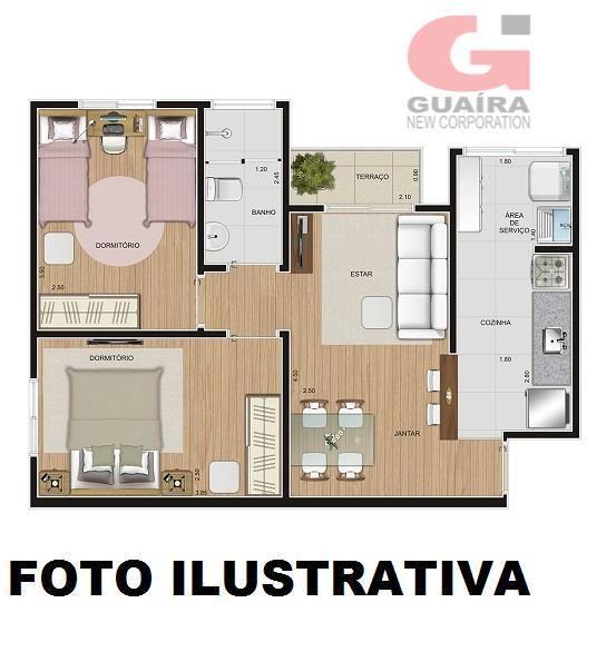 Apartamento de 2 dormitórios à venda em Campestre, Santo André - SP