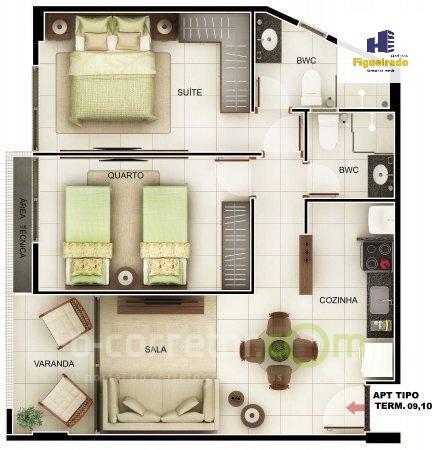 Flat residencial à venda, Bessa, João Pessoa.