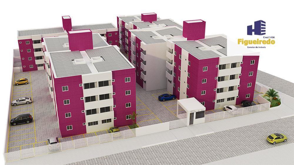 Apartamento residencial à venda de 02 quartos em Mangabeira, João Pessoa - AP2463.
