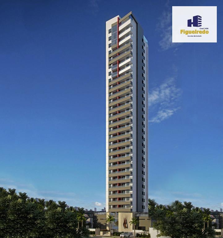 Apartamento  residencial à venda com 03 quartos, Tambaú, João Pessoa.
