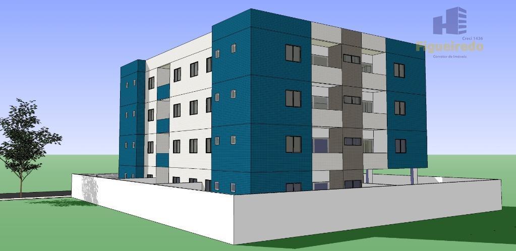 Apartamento  residencial à venda, composto por 02 qtos, em Cidade dos Colibris, João Pessoa.
