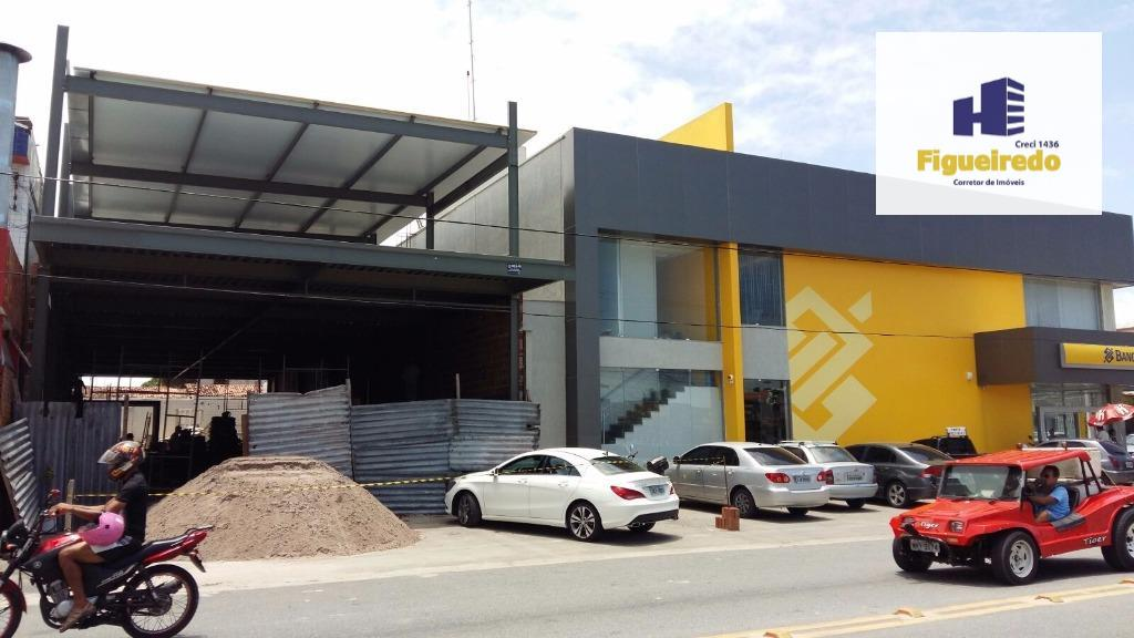 Galpão  comercial com 600m² vizinho ao banco do Brasil da josefa taveira para locação, Mangabeira, João Pessoa.