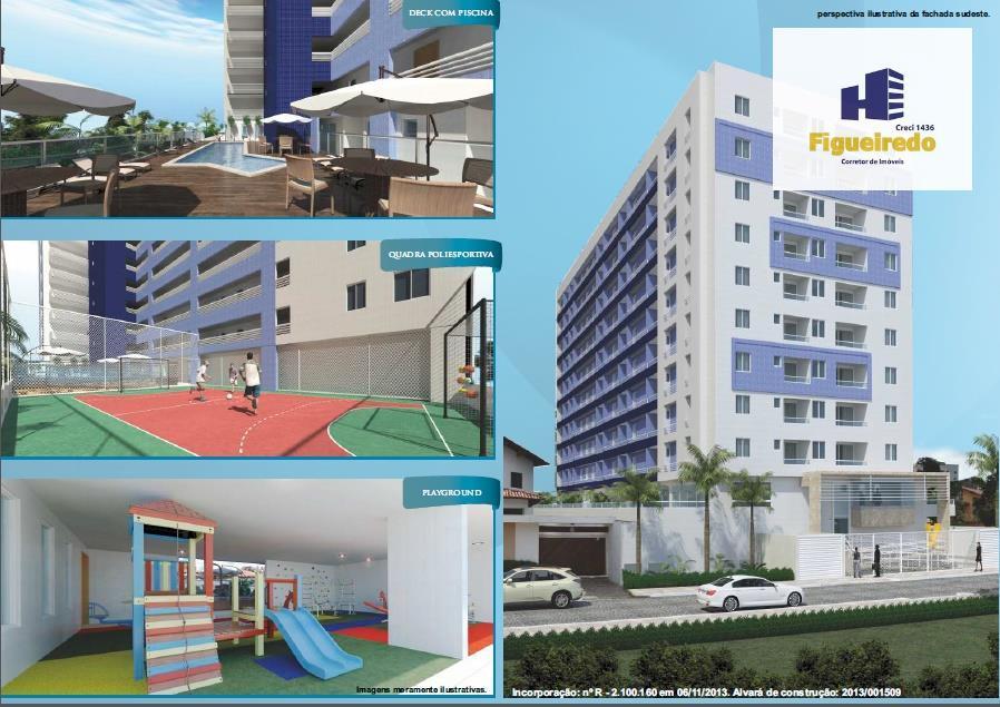 Apartamento  residencial, 2 quuartos, sendo 1 suíte, à venda, Jardim Oceania, João Pessoa.