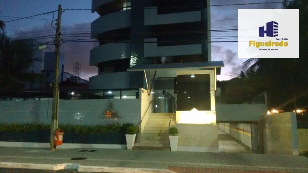 Apartamento  residencial com 126m², com 03 qtos s/01 suite para venda e locação na Beira mar do Cabo Branco, João Pessoa.