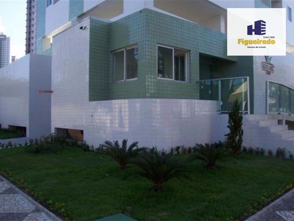 Apartamento com 2 dormitórios para alugar, 52 m² por R$ 1.300/mês - Manaíra - João Pessoa/PB