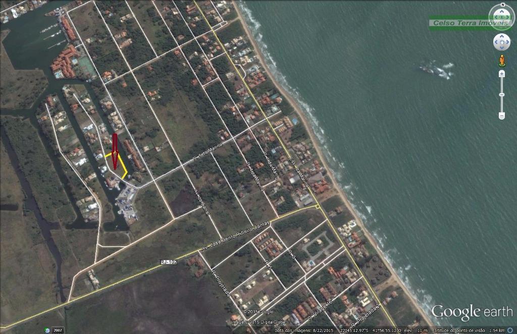 Área de 4.000m2 na beira do canal da Marina