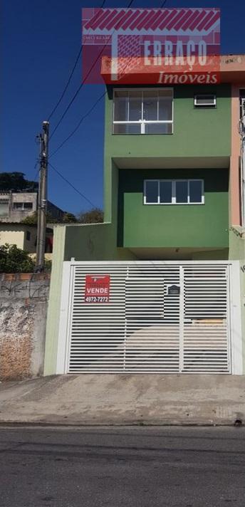 Sobrado residencial à venda, Vila Linda, Santo André.