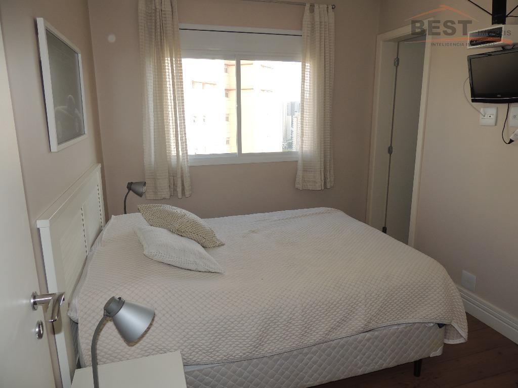 24º andar - 3 suítes, sendo a suíte máster expandida com armários e escritório integrado. sala...