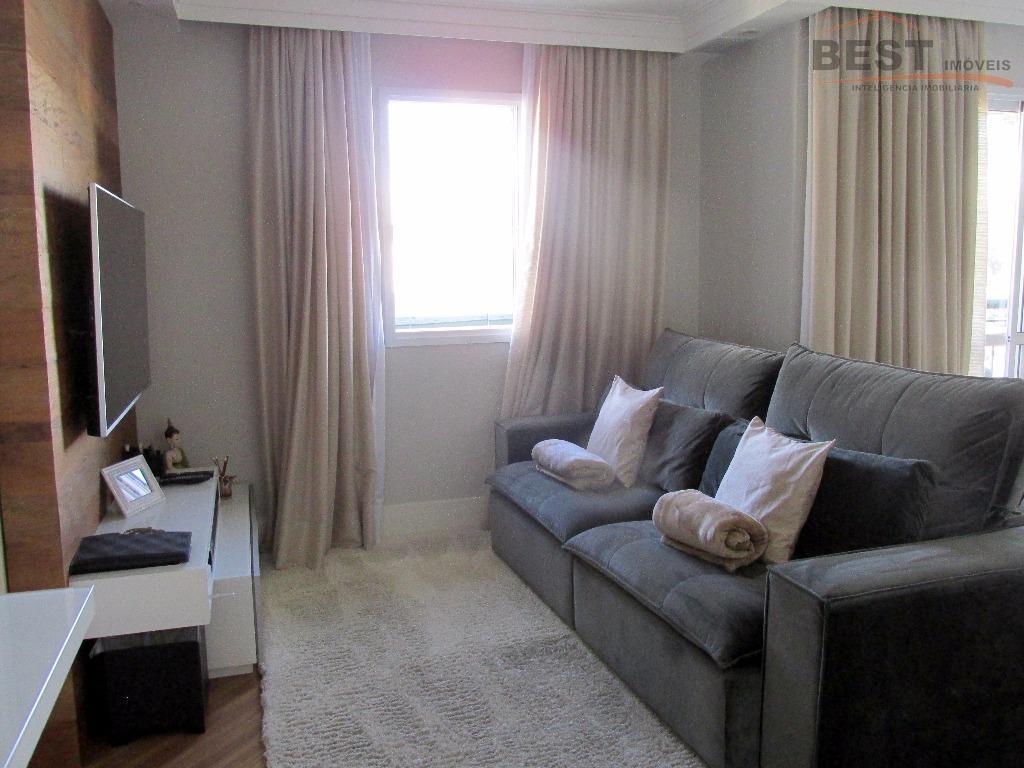 excelente apartamento com 3 dormitórios sendo 2 suítes, sala para 2 ambientes com sacada, lavabo, cozinha...