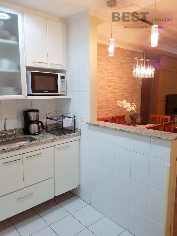 lindo apartamento com acabamento de primeira.sala para 2 ambientes com sacada , lavabo , cozinha americana...