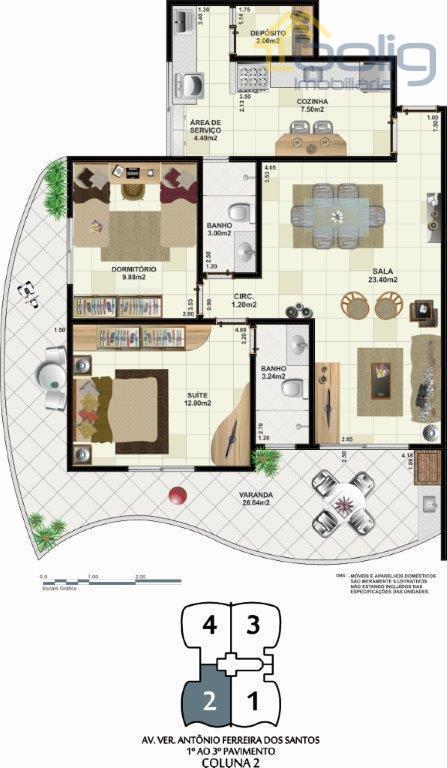 Apartamento  2 quartos , Braga, Cabo Frio.