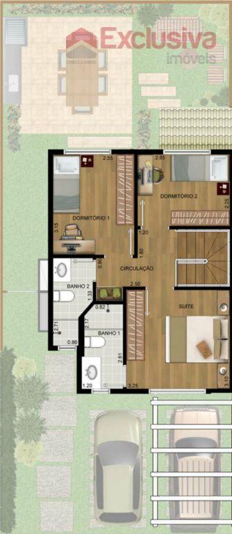 oportunidade de negócio !!!!sobrados novos de 84m2.possui 03 dormitórios , sendo 01 suíte, sala 02 ambientes,...