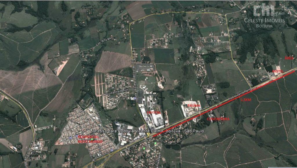 Terreno Industrial, em Boituva,  Frente Para Pista, plato pronto,  já com parte murada, gaz  encanado, localizada à  5 km do Cen