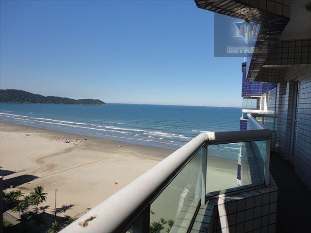 Prédio 2 dormitórios frente ao mar aceita financiamento bancário,Praia Grande