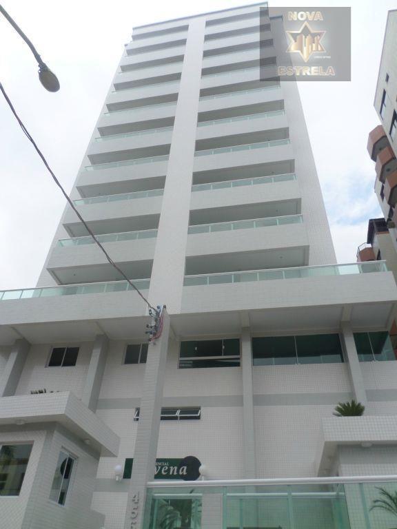 Apartamento novo 1 dormitório novo à venda, Campo da Aviação, Praia Grande - AP0942.