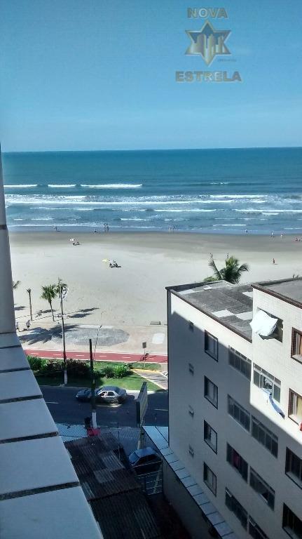 Cobertura frente ao mar 2 dormitórios, Cidade Ocian, Praia Grande.