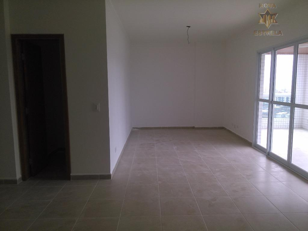 Lindo Apartamento 3 dormitórios e 2 suítes, sacada à venda, Cidade Ocian, Praia Grande.