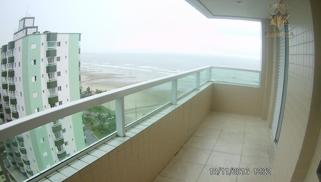 Apartamento  3 dormitórios frente ao mar, Vila Caiçara, Praia Grande.