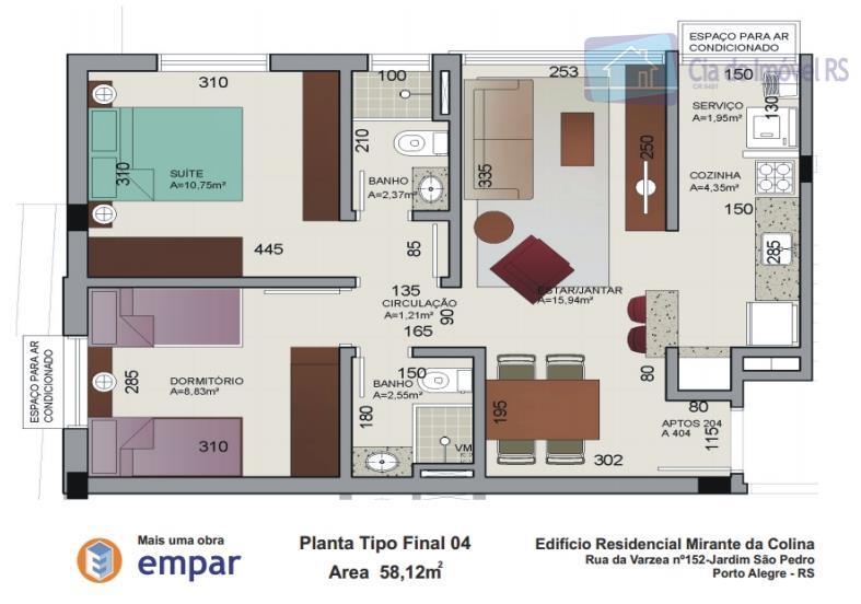 oportunidade apartamento com dois dormitórios sala cozinha suite banheiro social elevador estacionamento para dois carros edificio...